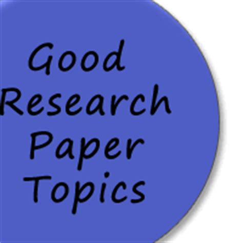Suggestion topics research papers